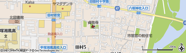 貞性寺周辺の地図
