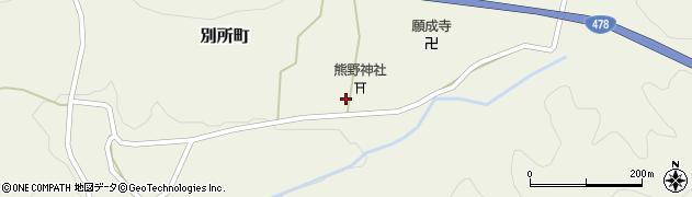 京都府綾部市別所町(神宮谷)周辺の地図