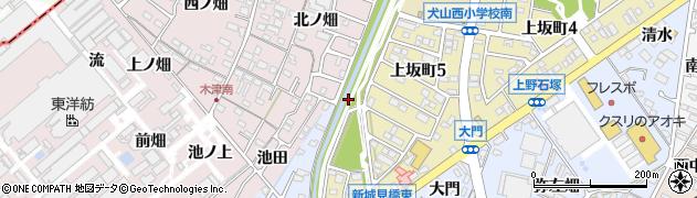 愛知県犬山市上野(流)周辺の地図