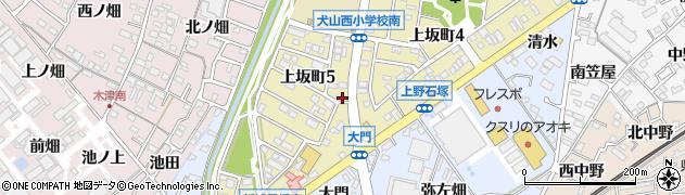 愛知県犬山市上野(機織)周辺の地図
