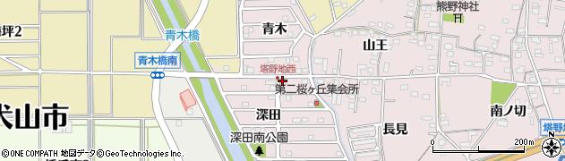 山王苑周辺の地図