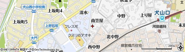 愛知県犬山市犬山(南笠屋)周辺の地図