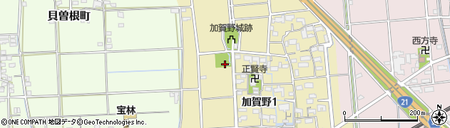 加賀野名水公園周辺の地図