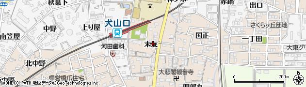 愛知県犬山市橋爪(末友)周辺の地図