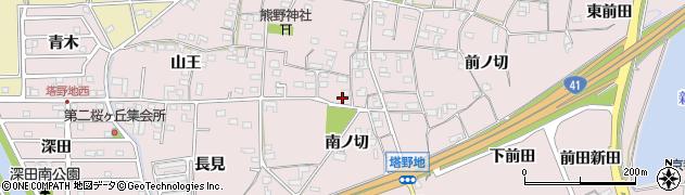 愛知県犬山市塔野地(南ノ切)周辺の地図