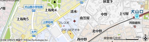 愛知県犬山市上野(石塚)周辺の地図