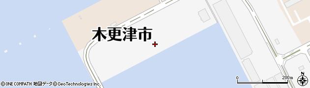 千葉県木更津市木材港周辺の地図