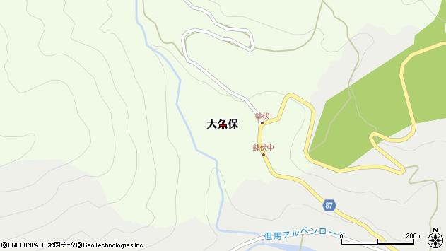 〒667-1127 兵庫県養父市大久保の地図