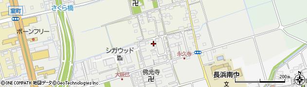 滋賀県長浜市大辰巳町165周辺の地図
