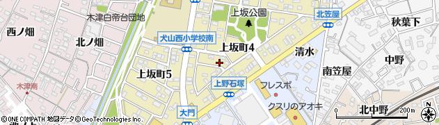 愛知県犬山市上野(八幡東)周辺の地図