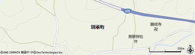 京都府綾部市別所町周辺の地図