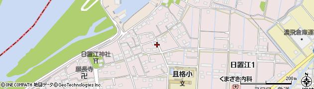 岐阜県岐阜市日置江周辺の地図