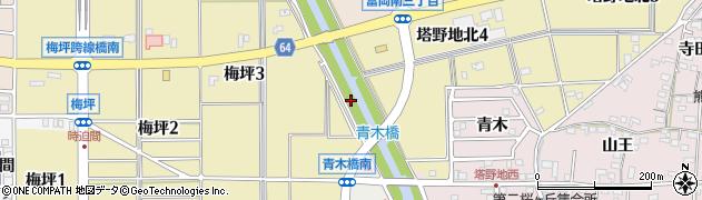 愛知県犬山市犬山(青木)周辺の地図