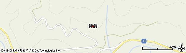 鳥取県三朝町(東伯郡)神倉周辺の地図