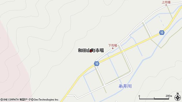 〒669-5234 兵庫県朝来市和田山町市場の地図