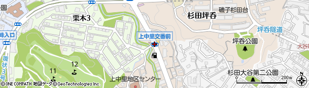 上中里交番前周辺の地図