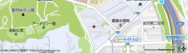 富岡団地周辺の地図
