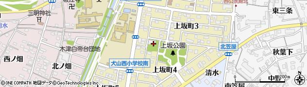 愛知県犬山市上坂町周辺の地図