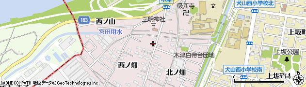 愛知県犬山市木津周辺の地図