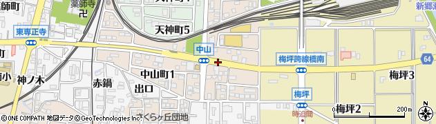 愛知県犬山市中山町周辺の地図