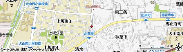 愛知県犬山市犬山(南志水)周辺の地図