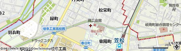 岐阜県羽島郡笠松町春日町周辺の地図