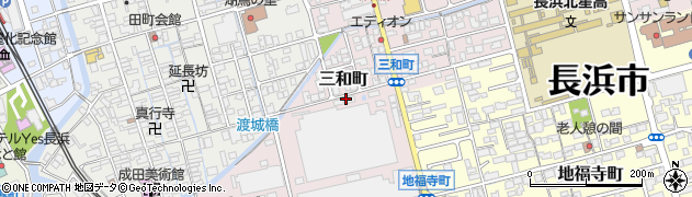 滋賀県長浜市三和町周辺の地図