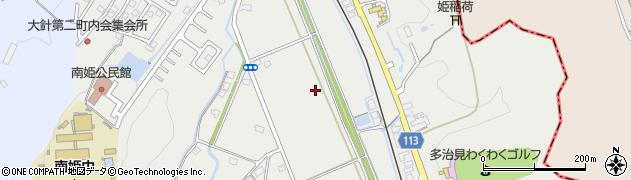 岐阜県多治見市大針町周辺の地図