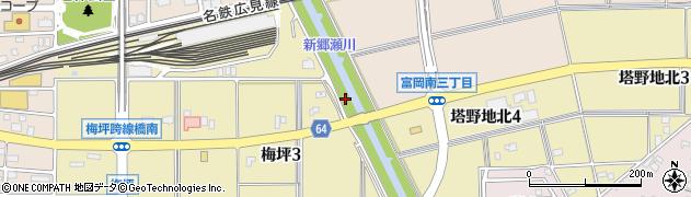 愛知県犬山市犬山(大坪)周辺の地図