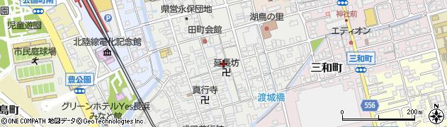 滋賀県長浜市朝日町周辺の地図