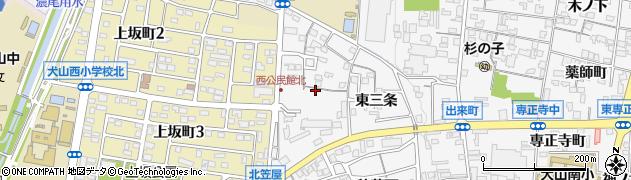 愛知県犬山市犬山(西三条)周辺の地図