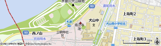 愛知県犬山市木津(宮前)周辺の地図