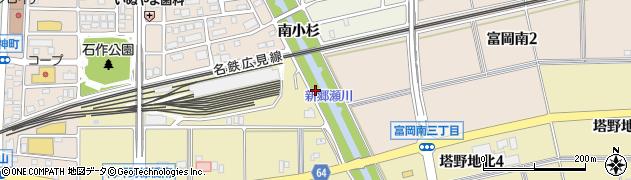 愛知県犬山市富岡(善光寺)周辺の地図