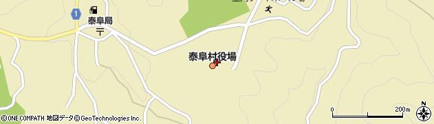 長野県下伊那郡泰阜村周辺の地図