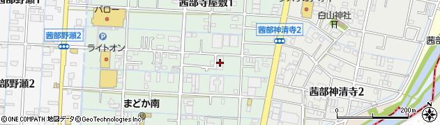 岐阜県岐阜市茜部寺屋敷2丁目10周辺の地図