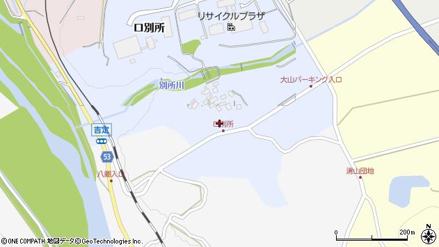 〒689-4106 鳥取県西伯郡伯耆町口別所の地図