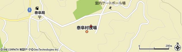 長野県泰阜村(下伊那郡)周辺の地図