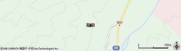 鳥取県三朝町(東伯郡)福田周辺の地図