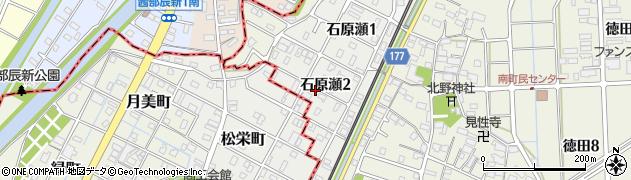 岐阜県羽島郡岐南町石原瀬2丁目周辺の地図