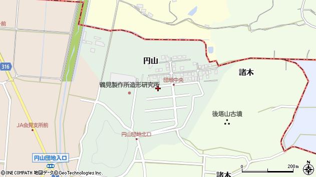 〒683-0211 鳥取県西伯郡南部町円山の地図