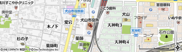 愛知県犬山市犬山(東畑)周辺の地図