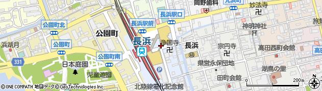 滋賀県長浜市北船町周辺の地図