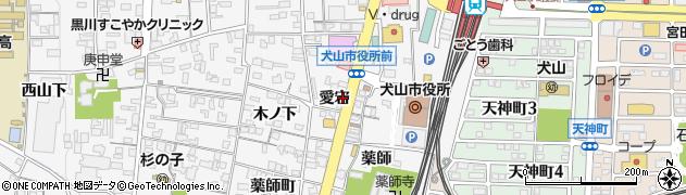 愛知県犬山市犬山(愛宕)周辺の地図