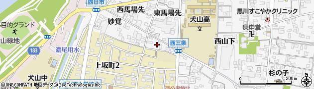 愛知県犬山市犬山(北志水)周辺の地図