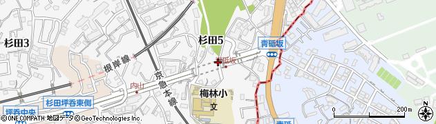 神奈川県横浜市磯子区杉田周辺の地図