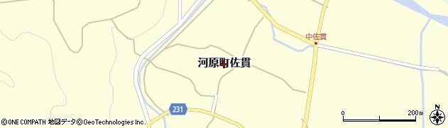 鳥取県鳥取市河原町佐貫周辺の地図