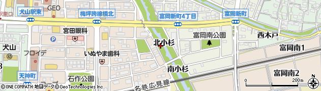 愛知県犬山市犬山(北小杉)周辺の地図