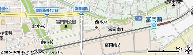 愛知県犬山市富岡(西川原)周辺の地図