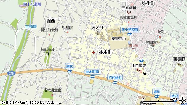 〒259-1317 神奈川県秦野市並木町の地図
