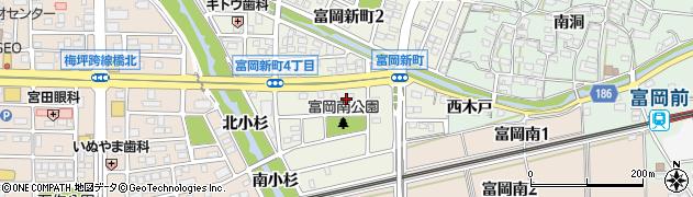 愛知県犬山市富岡新町周辺の地図